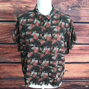LuLaRoe Amy Button Up American Dreams Collection M